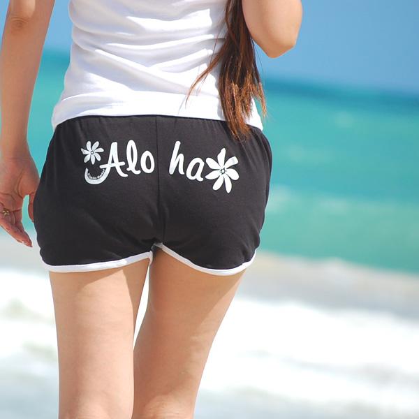 画像1: フラパンツ【Aloha (Black)】 HP0001