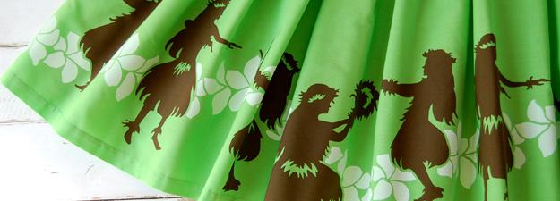 フラガール柄のフラのパウスカート