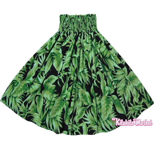 画像1: パウスカート(ブラックグリーン/ヤシの葉柄)